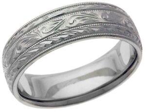 Platinum 14k 10k Silver White Gold Wedding Band Ring