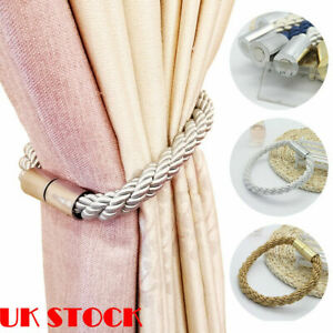 details about 2 home magnetic curtain tiebacks holdbacks buckle clip tie backs holder rope