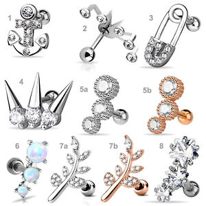 Helix Piercing Tragus Ohr Piercing Barbell Cartilage Piercing Knorpel Z515