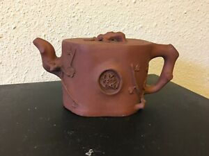 Antique Chinese Yixing Zisha Clay Teapot Of Plum Blossom and branch