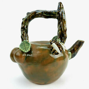 China Yixing Zisha Teapot Handmade Plum Blossom Cicada No Lid