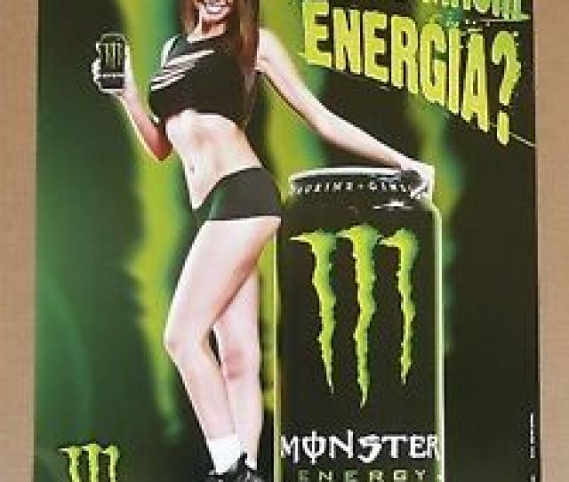 Image Is Loading Monster Energy Drink Hot Sexy Latina Girls Beer