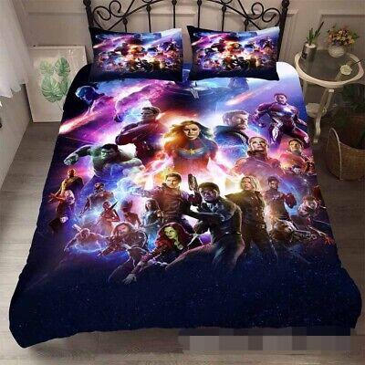 avengers endgame 3d printed bedding set quilt duvet doona cover pillow cases ebay