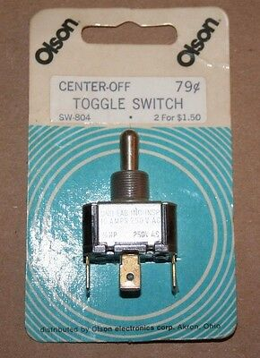 Vintage Olson Electronics Und Lab Inc Toggle Switch On Off