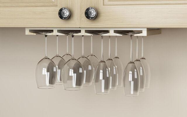 under cabinet wine glass rack shelf