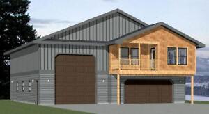 Details About 44x48 Apartment With 2 Car 1 Rv Garage Pdf Floorplan 645 Sqft Model 5c