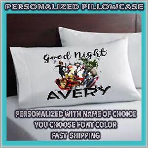marvel avengers pillowcase personalized