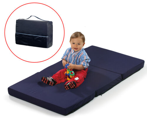 Hauck Navy Blue Sleeper Folding Travel Cot Mattress Size 120 X 60 Cm Ebay