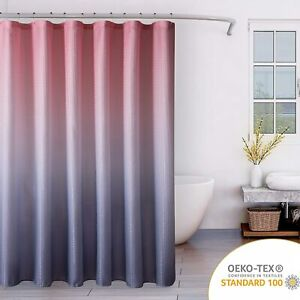 details about blush pink gray ombre textured glam french country pretty fabric shower curtain