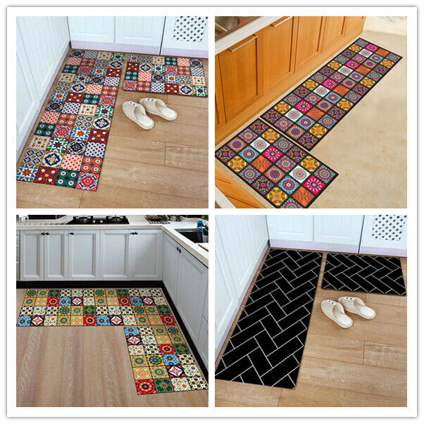 Kitchen Runner 150x50 Red Washable Treffpunkt Kuchen Teppich Doormat Non Slip For Sale Ebay