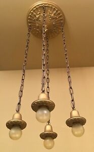 details about vintage lighting 1920s waterfall ceiling fixture rewired