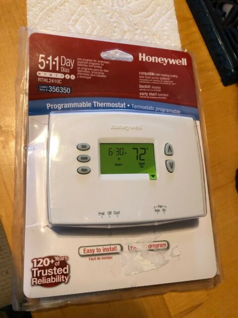 Honeywell Programmable Thermostat Rthl2410c For Sale Online Ebay