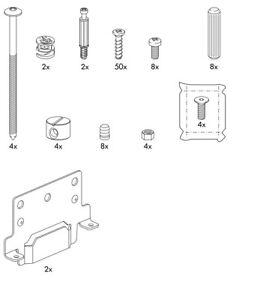 Détails Sur Ikea Trysil Lit Ensemble De Vis Et Fixations Clous Chevilles Afficher Le Titre Dorigine