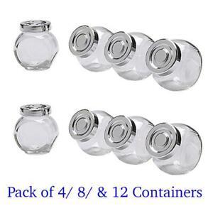 details sur ikea bocal a epices lot de 4 8 12 verre de cuisine conteneur de stockage couvercle neuf afficher le titre d origine
