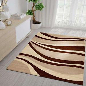details sur tapis salon marron beige modern kurzflor jeunesse chambre vimoda afficher le titre d origine