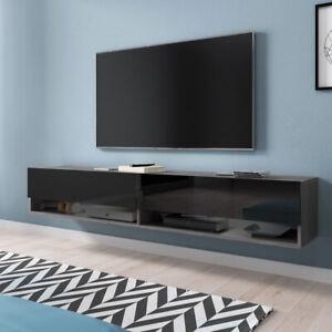 chene wotan meuble tv suspendu banc tv