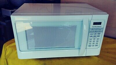 white hamilton beach digital microwave 1000w 190873002376 ebay