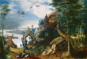 "Pieter Bruegel : ""Temptation of Saint Anthony"" (c.1550/1575) — Fine Art Print"