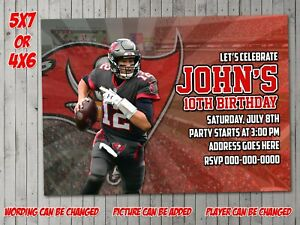 details about tampa bay buccaneers digital invitation party birthday invite evite football