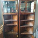 Corner Curio Cabinet W 2 Doors 20852 For Sale Online Ebay