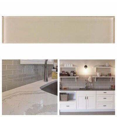 3 x 12 beige crystal glass subway tile for kitchen bathroom shower spa wall ebay