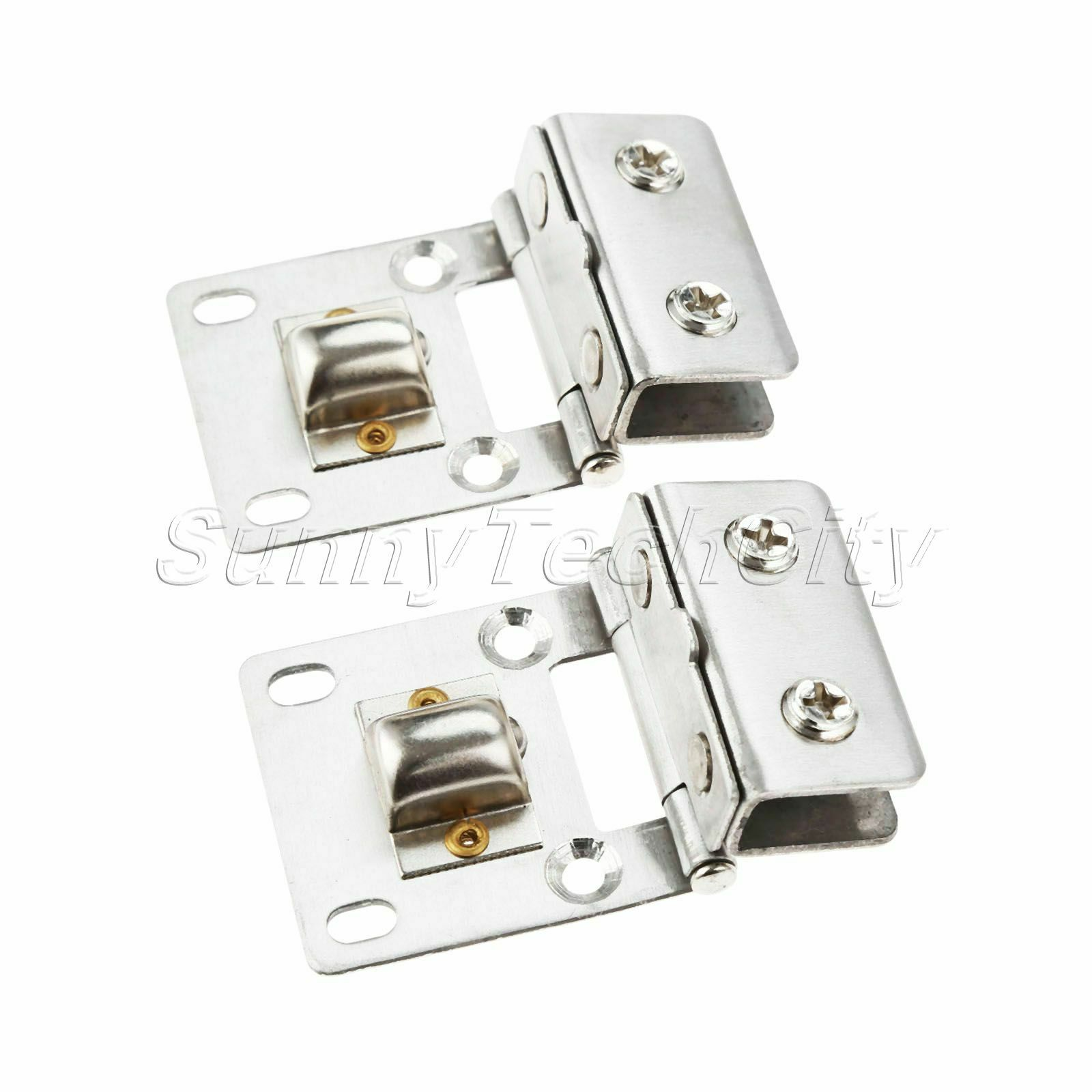 2pcs Wall Mount Door Pivot Hinge For 5 8mm Glass Stainless Steel Shower Clamps