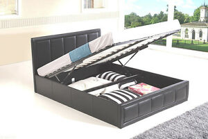 Image Is Loading Storage Bed Ottoman Gas Lift Double King Size