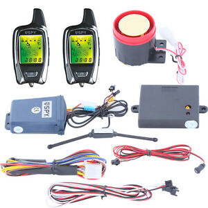 Image Is Loading Universal Spy 5000m 2 Way Motorcycle Alarm System