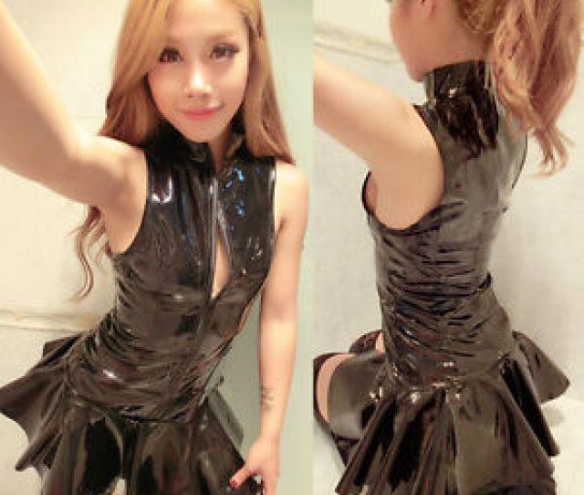 Image Is Loading Sexy Women  S Pvc Leather Shiny Clubwear