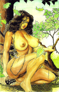 Image Is Loading Cavewoman Meriem 039 S Gallery 5 Budd Root