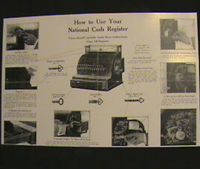 Image Is Loading Antique National Cash Register 034 How To Use