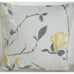 details about magnolia tree cushion covers 18x18 yellow and grey 18 cover ochre mustard