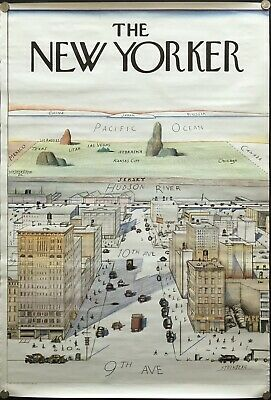 saul steinberg view of the world from 9th avenue the new yorker 1976 poster ebay