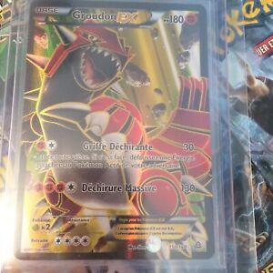 details sur carte pokemon ultra rare groudon ex full art 150 160 xy5 primo choc vf