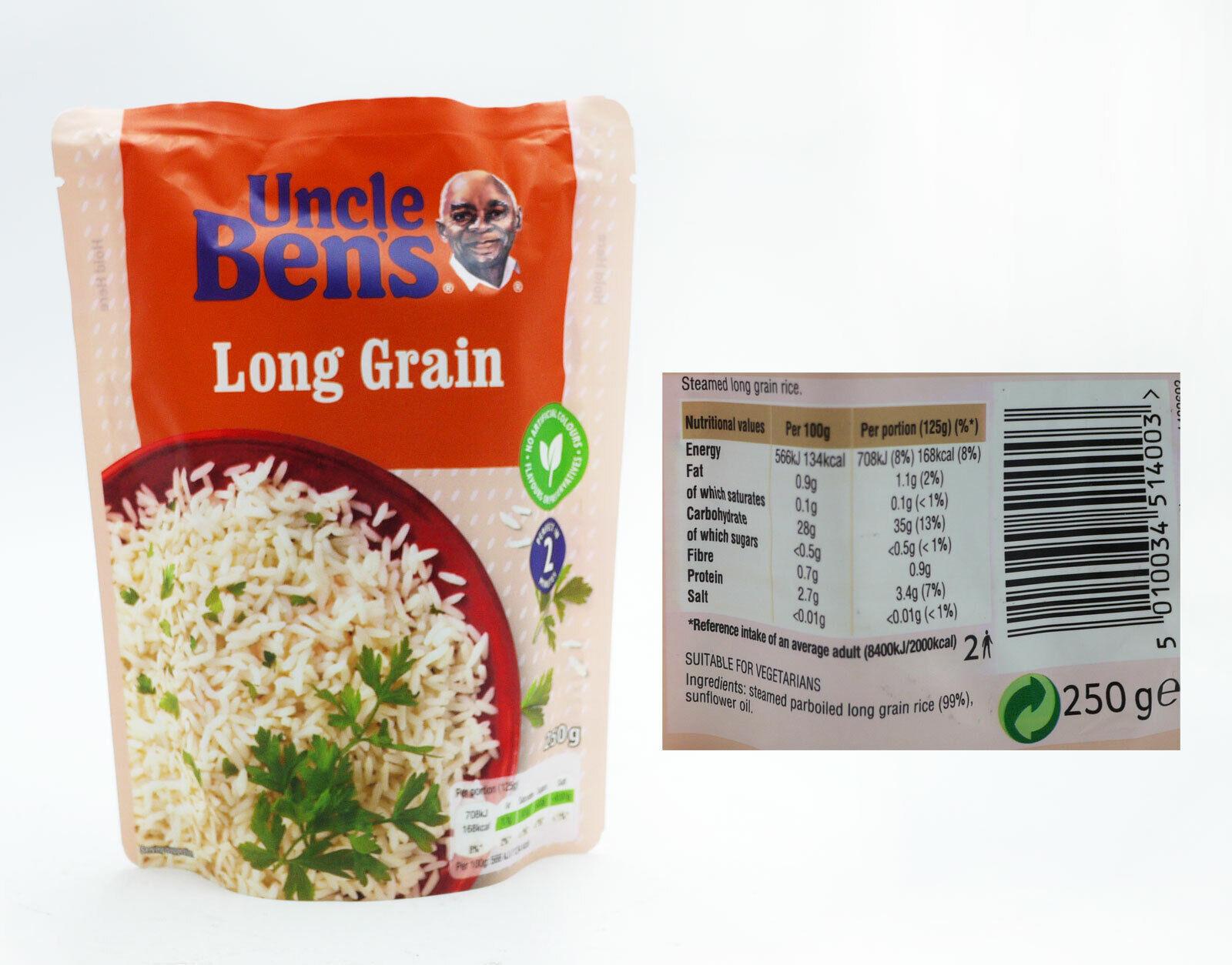 uncle bens long grain microwave rice 250g bargain