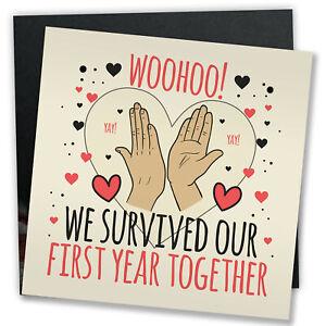1st Anniversary Card First Anniversary Gift For Him Her Boyfriend Girlfriend 5056293516433 Ebay