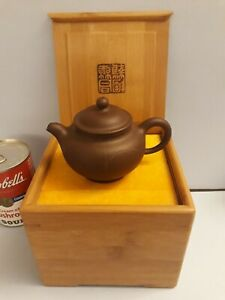 Vintage FINE Chinese YIXING Zisha Red Clay Teapot Seal Marks