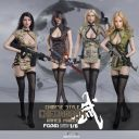 1:6 Girl Chinese Cheongsam Female Soldier Suit F 12″ Fire Girl Figures FG061