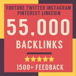 55000 Verified SEO Backlinks - Boost Your Social Media Google Rankings