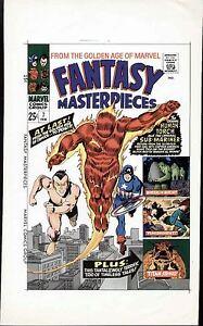 1967 GIL KANE MARVEL FM #7 ORIGINAL COVER PROOF PRODUCTION ART CAPTAIN AMERICA