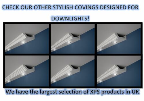 curtain rod rail cover coving cornice gk4 xps lightweight many sizes 2m long sointechile cl