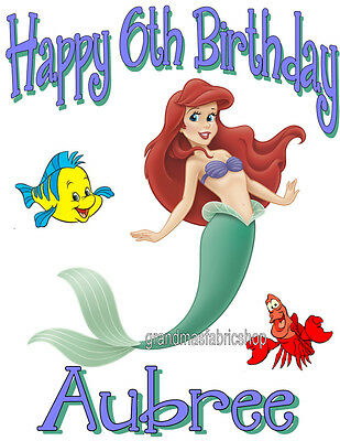 New Custom Personalized Little Mermaid T Shirt Birthday Party Gift Add Name Age Ebay