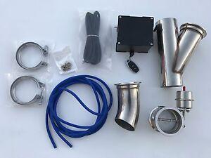 detalles acerca de 3 escape recorte e cut out valvula de valvula de vacio sistema kit y remota 3 pulgadas turbo mostrar titulo original
