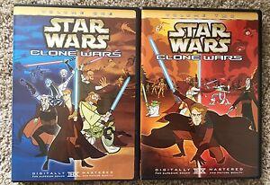 Star Wars Clone Wars Volume 1 And Volume 2 Dvd 2005 Usa Region 1 Oop Ebay