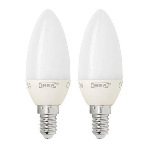 ikea ryet ampoule del e14 200 lumen lustre opale blanc 2 pack