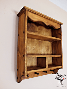 S98 Traditional Kitchen S Cabinet Timber Shelf Wall Mounted Shelving Unit Ebay