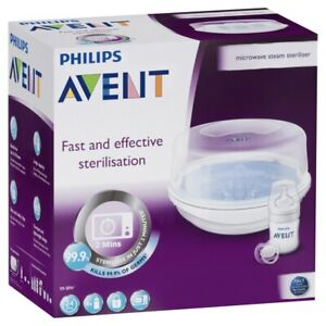 details about philips avent microwave steam steriliser baby bottle bpa free