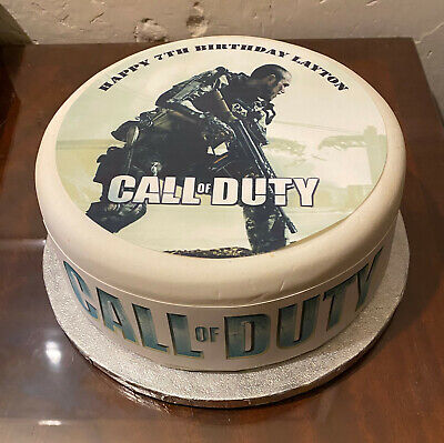 Call Of Duty 03 Pre Cut Edible Icing Cake Topper Or Ribbon Ebay