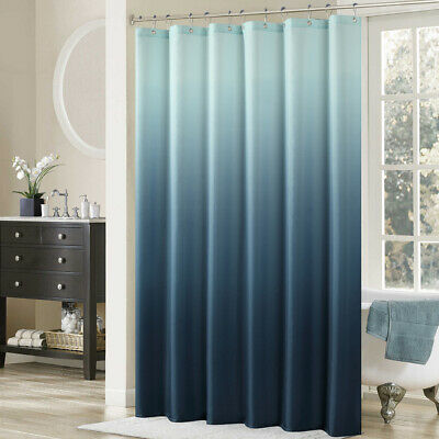 ds bath ombre blue printed polyester microfiber waterproof shower curtain ebay