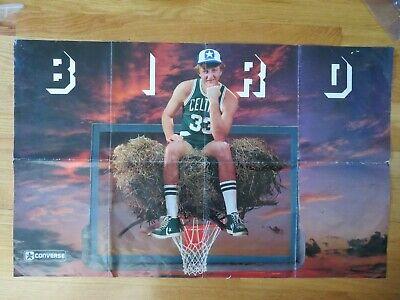 rare promotional converse larry bird rookie bird s nest poster boston celtics